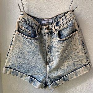 American Apparel denim cuff short